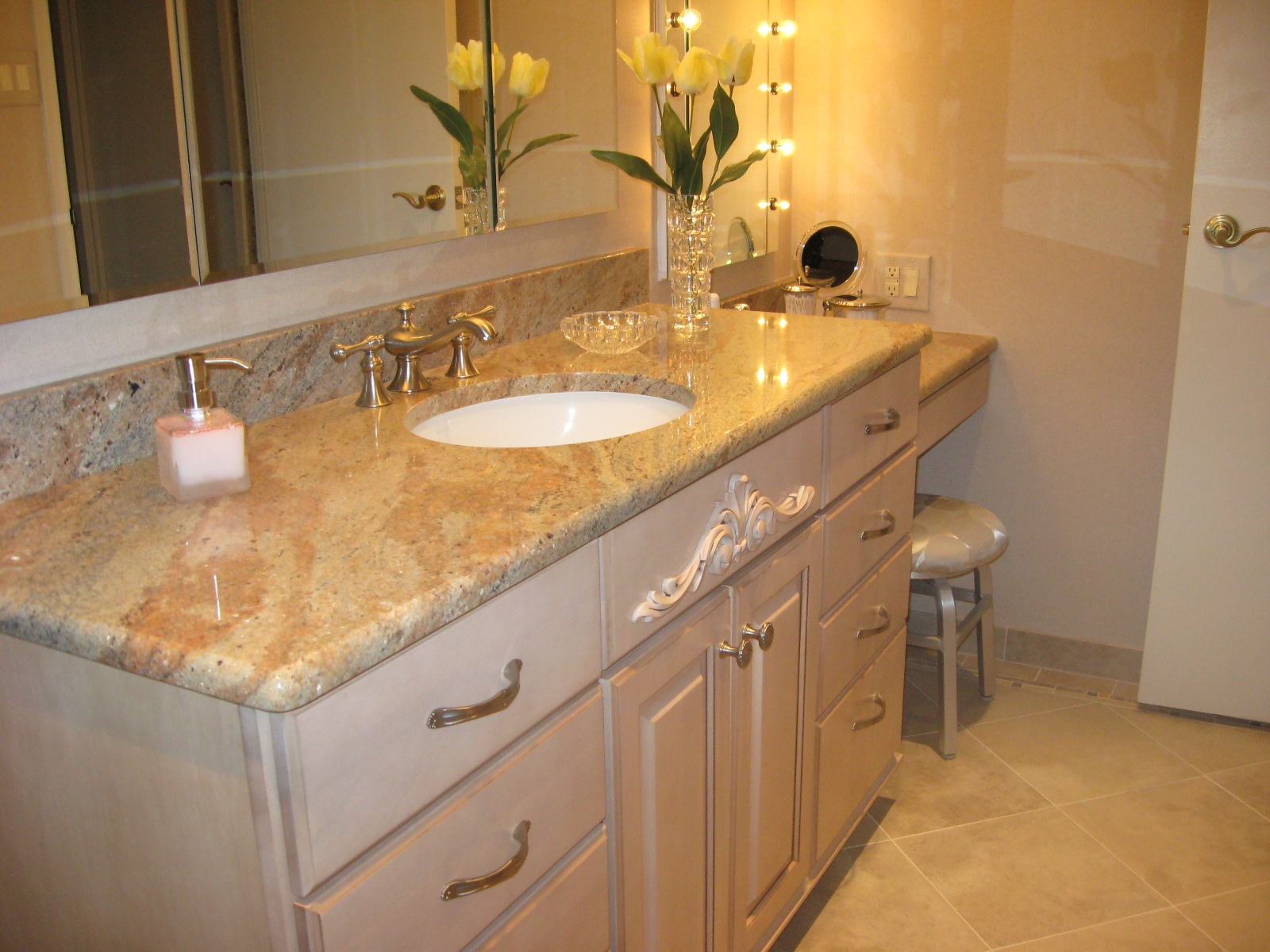 Bahtroom Vanity Bath Counter Top Bathroom Granite