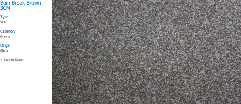 Granite Countertops, Kitchen Island, Bathroom Vanity bain-brook-brown Granite Colors