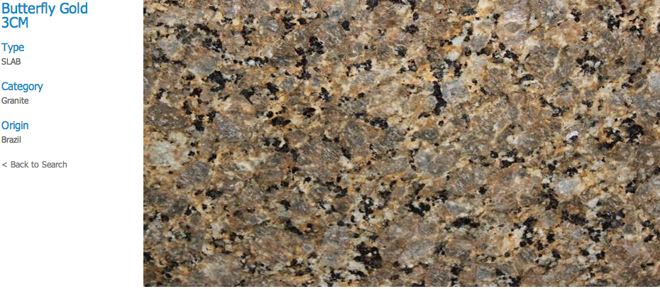 Granite Countertops, Kitchen Island, Bathroom Vanity butterfly-gold Granite Colors