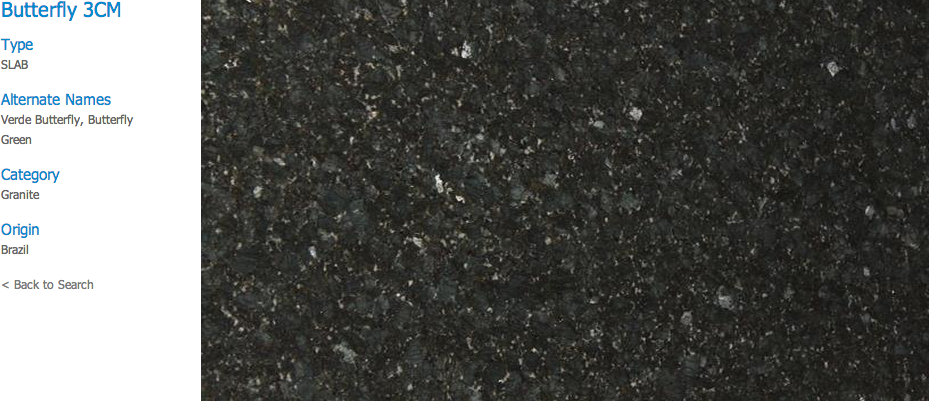 Granite Countertops, Kitchen Island, Bathroom Vanity butterfly Granite Colors