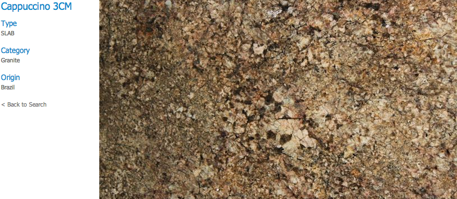 Granite Countertops, Kitchen Island, Bathroom Vanity cappuccino Granite Colors