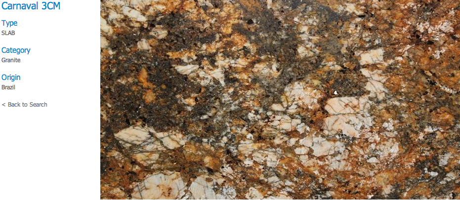 Granite Countertops, Kitchen Island, Bathroom Vanity carnaval Granite Colors