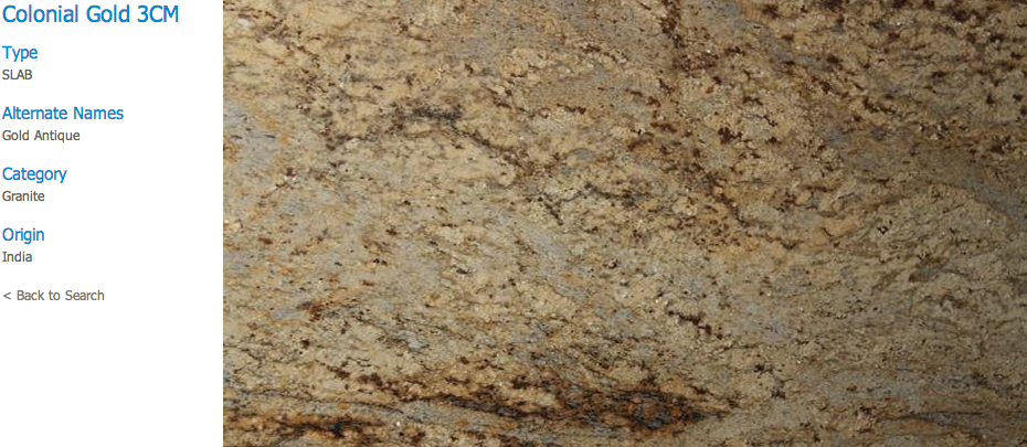 Granite Countertops, Kitchen Island, Bathroom Vanity colonial-gold Granite Colors