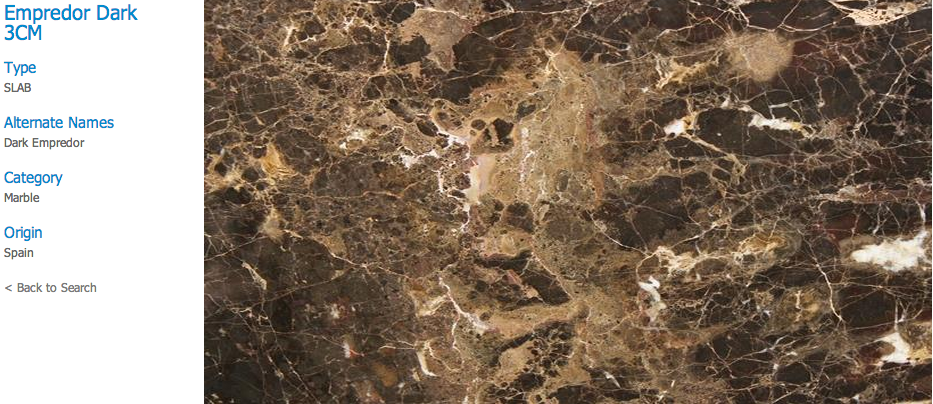 Granite Countertops, Kitchen Island, Bathroom Vanity empredor-dark Marble Colors