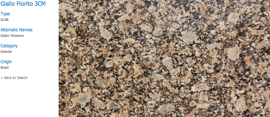 Granite Countertops, Kitchen Island, Bathroom Vanity giallo-florito Granite Colors