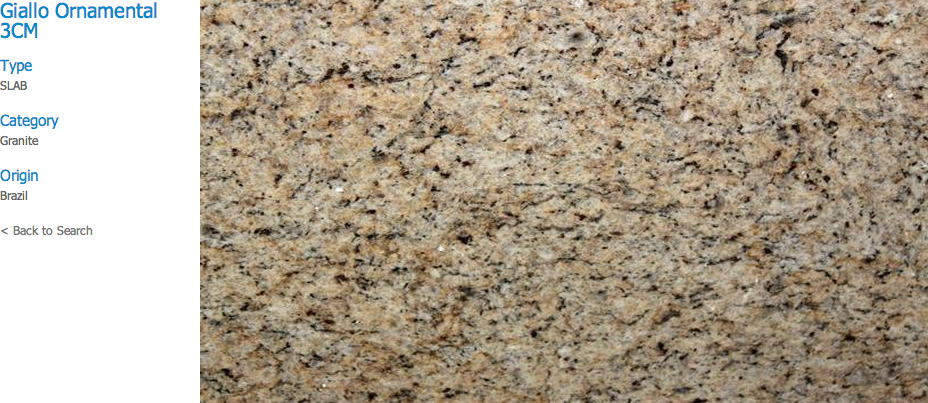Granite Countertops, Kitchen Island, Bathroom Vanity giallo-ornamental Granite Colors