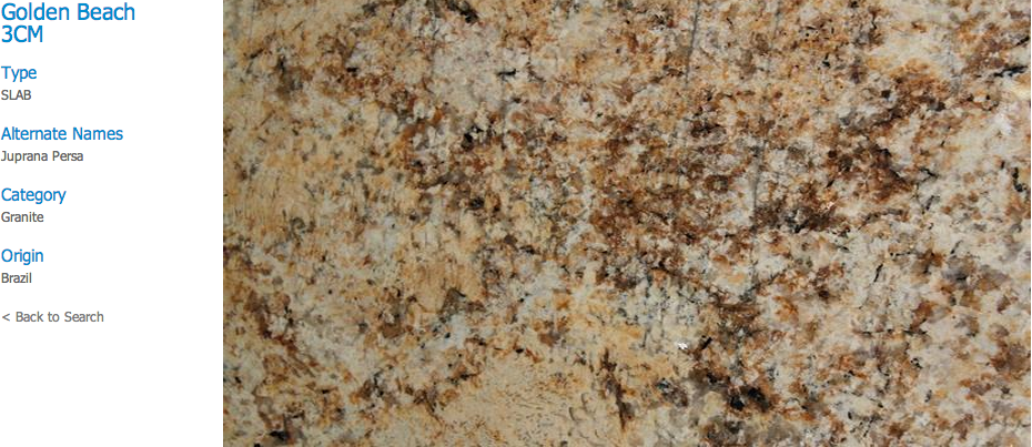 Granite Countertops, Kitchen Island, Bathroom Vanity golden-beach Granite Colors
