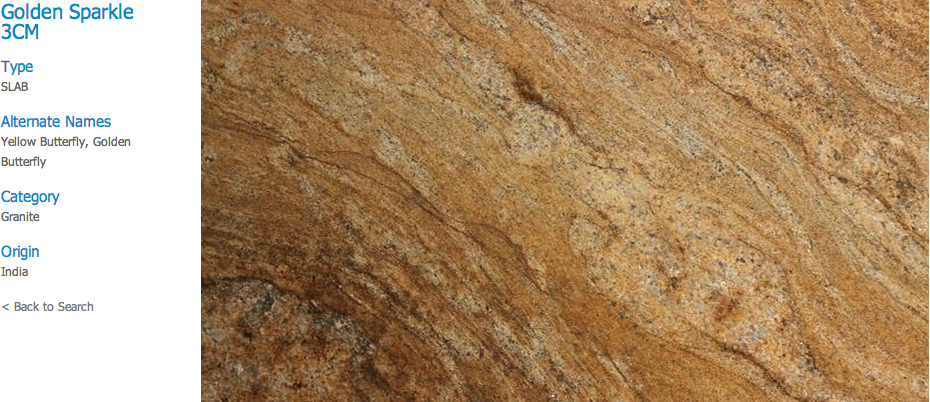 Granite Countertops, Kitchen Island, Bathroom Vanity golden-sparkle Granite Colors