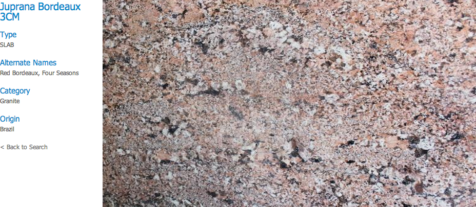 Granite Countertops, Kitchen Island, Bathroom Vanity juprana-bordeaux Granite Colors