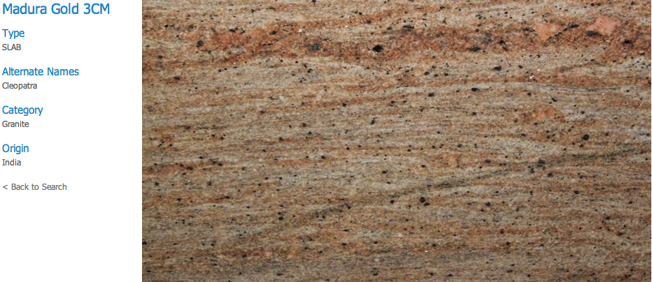 Granite Countertops, Kitchen Island, Bathroom Vanity madura-gold Granite Colors