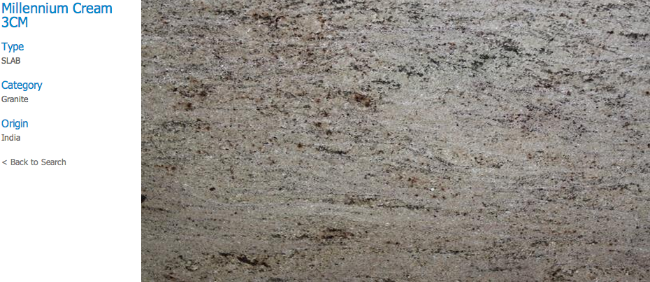Granite Countertops, Kitchen Island, Bathroom Vanity millennium-cream Granite Colors