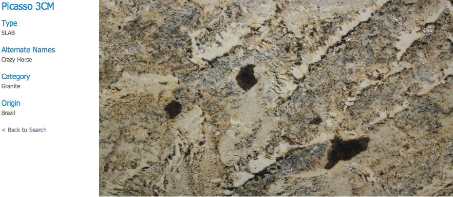 Granite Countertops, Kitchen Island, Bathroom Vanity picasso Granite Colors