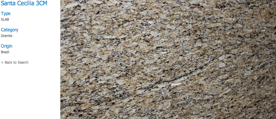 Granite Countertops, Kitchen Island, Bathroom Vanity santa-cecilia Granite Colors