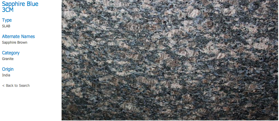 Granite Countertops, Kitchen Island, Bathroom Vanity sapphire-blue Granite Colors