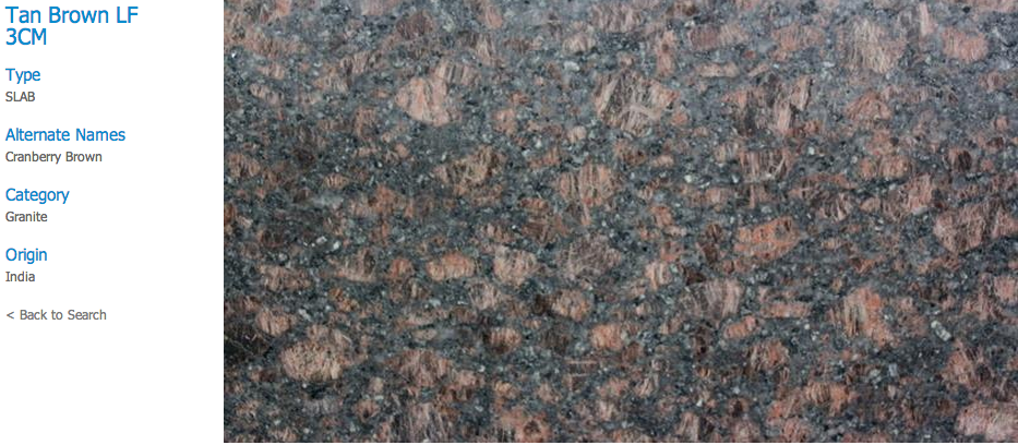Granite Countertops, Kitchen Island, Bathroom Vanity tan-brown Granite Colors