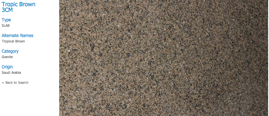 Granite Countertops, Kitchen Island, Bathroom Vanity tropic-brown Granite Colors