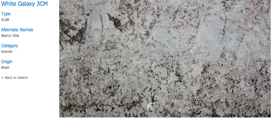 Granite Countertops, Kitchen Island, Bathroom Vanity white-galaxy Granite Colors