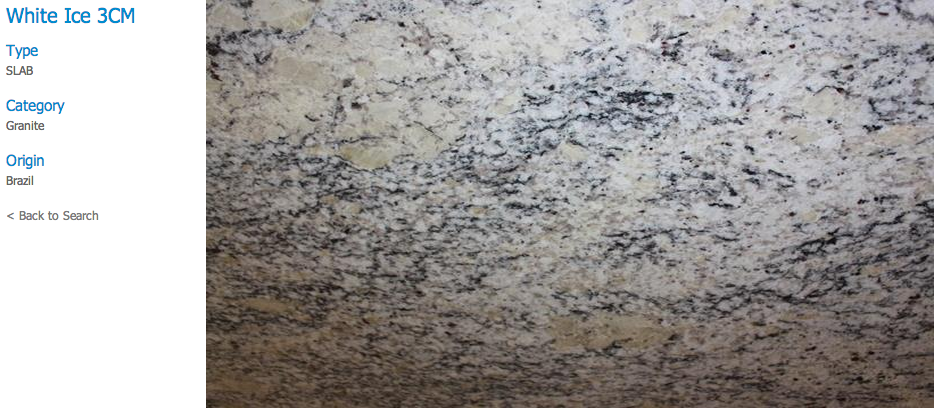Granite Countertops, Kitchen Island, Bathroom Vanity white-ice Granite Colors